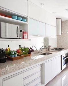 Cozinha Funcional e Clean! Quem ama?? Euuuuu  Projeto Babi Teixeira
