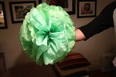 Tissue Pompoms.  High impact party decoration.