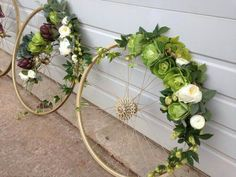 It's been a crazy fun change of pace working on these bike wheel arrangements for tomorrow's event. Deco Floral, Arte Floral, Floral Design, Ikebana, Flower Decorations, Wedding Decorations, Bike Decorations, Deco Originale, Diy Wreath