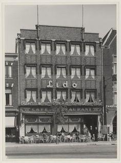 """Café restaurant """"Lido"""", aan de oostzijde van het Houtplein. Jaren 30"""