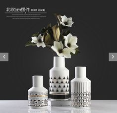 Elegant vase with colorful pattern for home decor