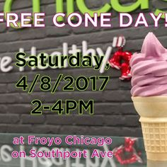With weather like this we all need to look forward to something, right? Well, #FroyoChicago is giving you a great reason to get excited for the weekend: FREE FROYO CONES!!! Saturday, from 2-4PM, visit Froyo Chicago on Southport to enjoy your favorite flavors in cone form (and maybe even a little sunshine!!). Share/like/tell a friend...let's welcome the warmer weather with a party! See you Saturday :-) #SouthportCorridor #thisislakeview #frozenyogurt