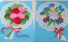 Diy And Crafts, Crafts For Kids, Arts And Crafts, Green Craft, Spring Crafts, Flower Crafts, Spring Flowers, Paper Flowers, Projects To Try