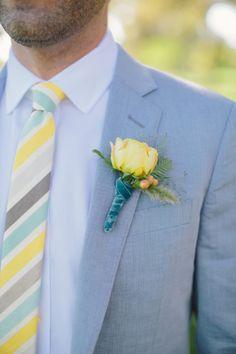 Yellow boutonniere: http://www.stylemepretty.com/california-weddings/napa/2015/02/27/whimsical-fall-wedding/ | Photography: D.Lillian - http://www.dlillianphotography.com/