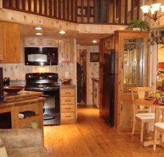 Tiny Home cabin with loft interior