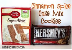 Cinnamon Spice Cake Mix Cookies at TheFrugalGirls.com