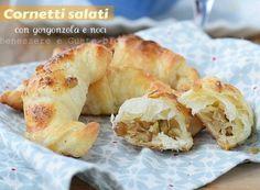 CORNETTI SALATI Antipasto, Bagel, Finger Foods, Buffet, Bread, Drinks, Shop, Italian Recipes, Pies