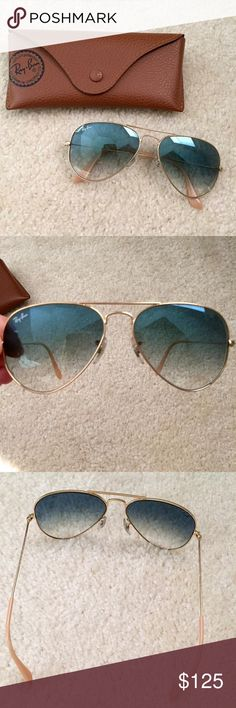 dc2376fd5d Ray-Ban Gradient Aviators Gradient Ray-Ban aviators bought from Nordstrom.  Mint condition