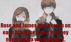Rose y James estuvieron enamorados durante años, pero nunca dijeron ni una palabra al respeto. Photo submitted by: hogwarts-people Based on a request by: untamedfire