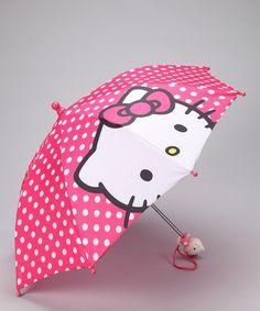 Hot Pink Hello Kitty Umbrella by Summer Showers: Kids Rain Gear $8.99