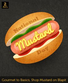 August 2 - National Mustard Day