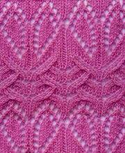 Lace Knit Stitch Pattern #Knitting http://knitchart.com/category/lace-knit-stitch-patterns.html