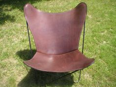 Shop for chair on Etsy, the place to express your creativity through the buying and selling of handmade and vintage goods. Atrium Design, Leather Dining Room Chairs, Lounge Chairs, Leather Butterfly Chair, Lake Tahoe Vacation, Ergonomic Computer Chair, Rugged Style, Mid Century Design, Vintage Home Decor