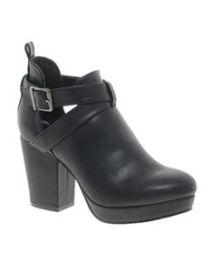 Image 1 ofASOS ALBERT Cut Out Ankle Boots