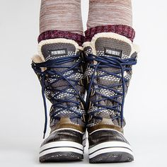 Stomp through snow drifts in high style and unbelievable comfort with this sumptuous collection of winter boots. With flirty embellishments, excellent construction and luxurious materials, these cold-weather kicks give practical footwear some extra panache. Winter blahs and frosty fronts don't stand a chance against these protective pairs!
