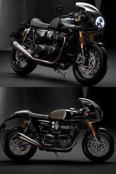 Cafe Bike, Cafe Racer Bikes, Cafe Racer Motorcycle, Cafe Racers, Triumph Motorbikes, Triumph Motorcycles, Thruxton Triumph, Custom Motorcycles, Vintage Cafe Racer