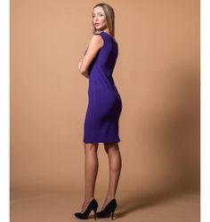 Mini Φόρεμα Κρεπ με Επωμίδες - Βιολετί High Neck Dress, Purple, Black, Dresses, Fashion, Turtleneck Dress, Vestidos, Moda, Black People