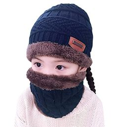 Winter Hats Scarf for Boys Girls (5-14 Years) Warm Snow Knit Beanie Windproof HINDAWI Circle Scarf Kids Slouchy Skull Cap Navy - Feature Made of high quality material, very warm and comfortable to wear. You may find similar design with our product, please be aware quality is totally different. There are many colors for the products, you can choose the one you like. Suitable for men and women, fashionable Unique design keep...