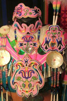 Womens pink beadwork set in progress...ties, earrings, bracelets, rings, bead wrapped drops to come... www.shawneedesignz.com