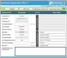 Free Excel Invoice Software Invoice Manager Pro   Ultimate Invoicing  Software For Excel  Free Excel Invoice Software