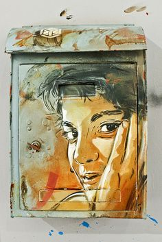 "C215 in  ""Vues sur Mur"" by C215, via Flickr"