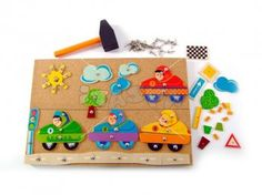 Hammer and Nails Game Car Nail Games, Wooden Toys, Triangle, Creations, Fabricant, Tack, Nails, Gift Ideas, Gaming