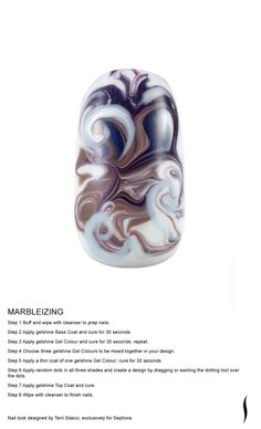 MARBLEIZING Nail look designed by Terri Silacci, exclusively for Sephora. #nailspotting #Sephora #beauty #SephoraOPI