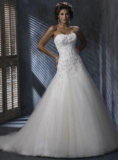 A-line Silhouette Corset Wedding Gown    Drop waist a little bit too low?