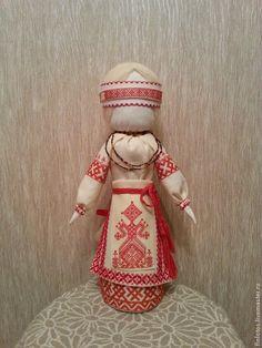Купить Кукла-оберег.Рожаница. - ярко-красный, кукла ручной работы, кукла в подарок