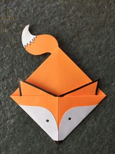 Origami For Kids Craft Projects Corner Bookmarks New Ideas Origami Design, Diy Origami, Origami Fox, Origami Folding, Useful Origami, Origami Paper, Origami Hearts, Dollar Origami, Origami Flowers
