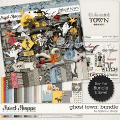 {Ghost Town} Digital Scrapbook Bundle by Digilicious Design available at  Sweet Shoppe Designs http://www.sweetshoppedesigns.com/sweetshoppe/product.php?productid=29253&page=1 #digiscrap #digitalscrapbooking #digiliciousdesign