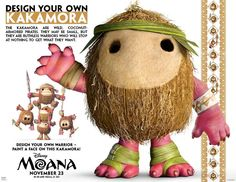 Moana Party Ideas Free Printable Kakamora Activity via @PagingSupermom
