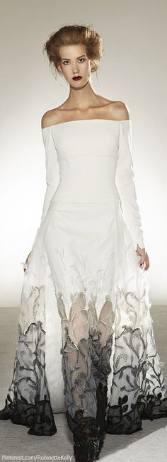 For the Bride that knows she ain't that innocent and all white would just be lie ! Georges Chakra Couture | F/W 2013