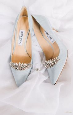 Silver heels with white stone work Pretty Shoes, Beautiful Shoes, Cute Shoes, Me Too Shoes, Fancy Shoes, Light Blue Shoes, Light Blue Wedding Shoes, Blue Bridal Shoes, Bridal Sandals