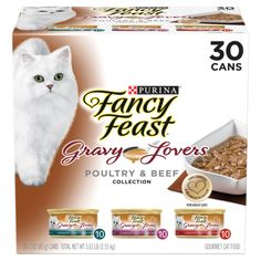Cat Supplies 85gm Alert New Fancy Feast White Label Gravy Lovers Beef Feast