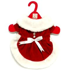 Mrs. Santa Claus Red Velveteen Dress Christmas Outfit For Dog or Puppy (Small) - http://www.thepuppy.org/mrs-santa-claus-red-velveteen-dress-christmas-outfit-for-dog-or-puppy-small/