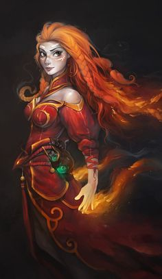 The ruby flame she's known as in most lands.  But in her kingdom, hidden from outsiders, she's known as Queen Flavora.  Her powers keep greedy armies at bay.  And she joins the rebellion to keep the king from moving on to her kingdom.