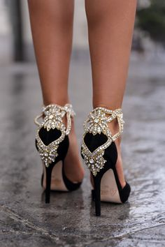Aminah Abdul Jillil crystal pumps #Shoes #Heels