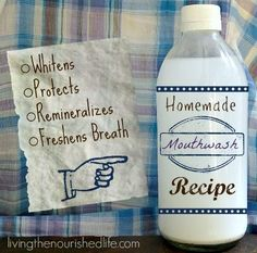 Homemade Mouthwash For Whitening and Remineralizing   Health & Natural Living