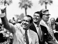 size: Photo: Pres Richard Nixon, Gov Ronald Reagan and Donald Johnson, Administrator of Veterans Affairs : American Presidents, Us Presidents, President Ronald Reagan, Veterans Affairs, United States, Couple Photos, Lady, Freak Out, Physical Activities