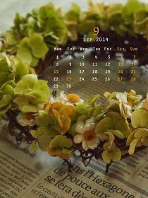 道のりを記憶に残して: 9月の花のカレンダーカードづくり/花・ガーデニング