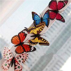 Fridge magnet butterfly plastic  3-d