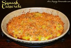 Mrs Happy Homemaker: My Perfect Squash Casserole...Im going to try this with zucchini instead