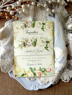 WEDDING INVITATIONS  Unique Custom Designed by SweetPeaSunday, $5.00
