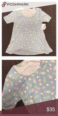LuLaRoe pineapple and ice cream cone Perfect T XS Brand new LuLaRoe Perfect T XS. LuLaRoe Tops Tees - Short Sleeve