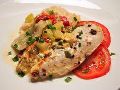 Broilerinfileitä, kesäkurpitsaa ja fenkoleita / Chicken fillets, zucchini and fennels