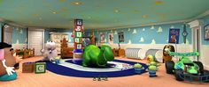 Disney Dream Oceaneer Club Andy's Room - Fun place for the kids to play! Dream Rooms, Dream Bedroom, Kids Bedroom, Andys Room Toy Story, Toy Story Bedroom, Disney Dream Cruise, Disney Rooms, Toy Rooms, Kids Rooms