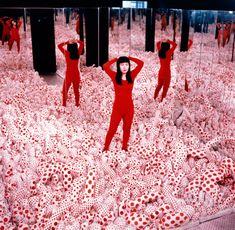 1965 Yayoi Kusama in Infinity Mirror Room #whatwecovet