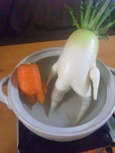 Hot tub buddies or a carrot & a turnip?