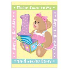 """Amscan Hugs /& Stitches Boy 1st Birthday Paper Tablecover 45/"""" x 102/"""" New"""